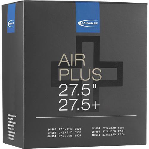 "Schwalbe Schlauch - Air Plus -  27.5+"" (54/70-584) - AV 21+AP - Auto-Ventil"