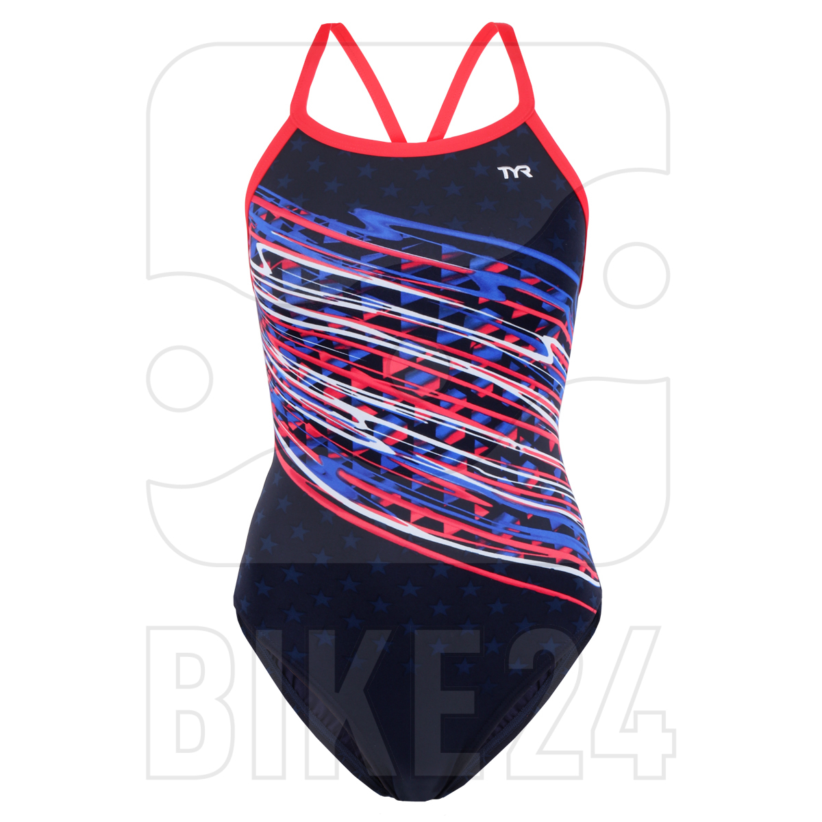 TYR Victorious Diamondfit Women Swimsuit - red/white/blue