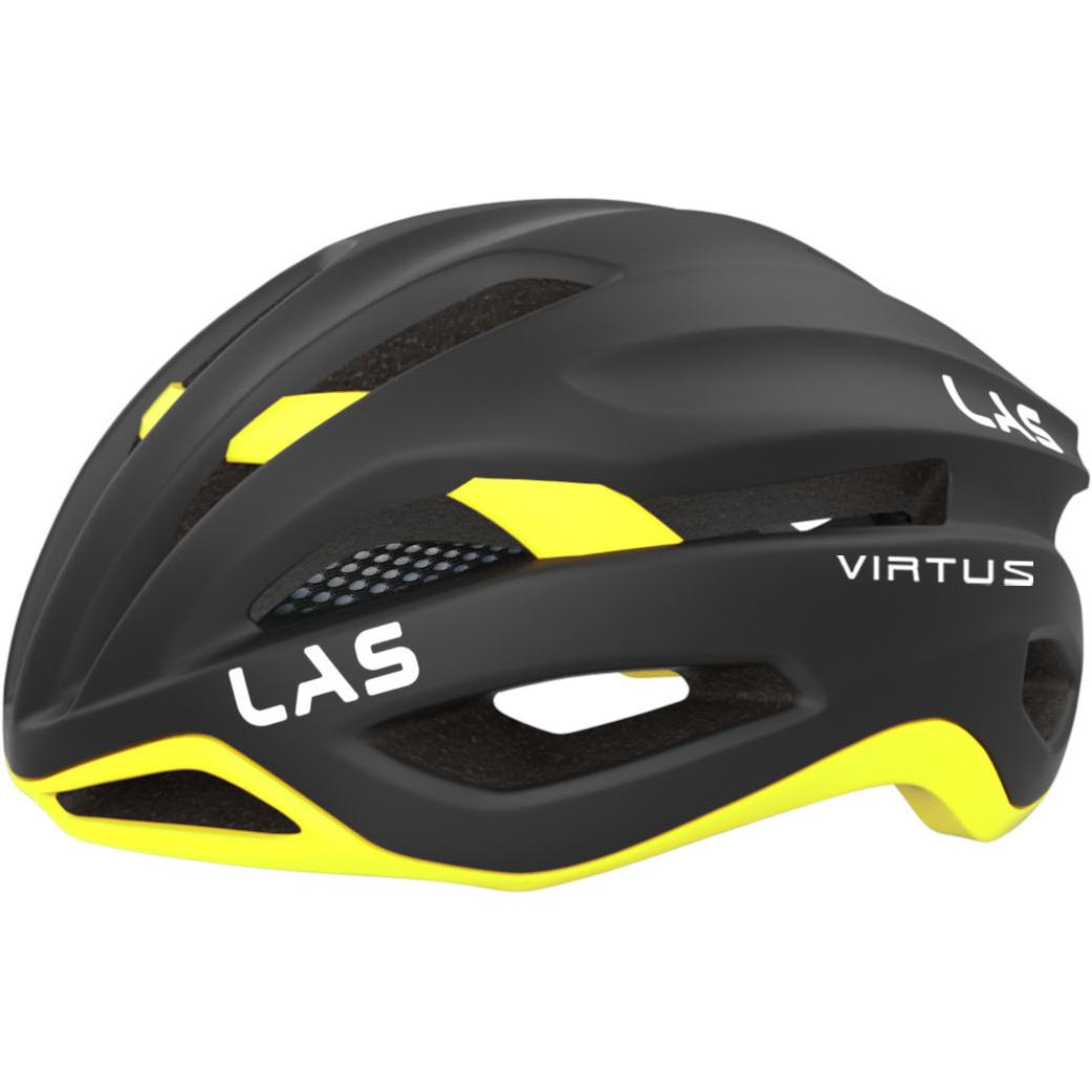 LAS Virtus Helm - Matt Black-Fluo Yellow