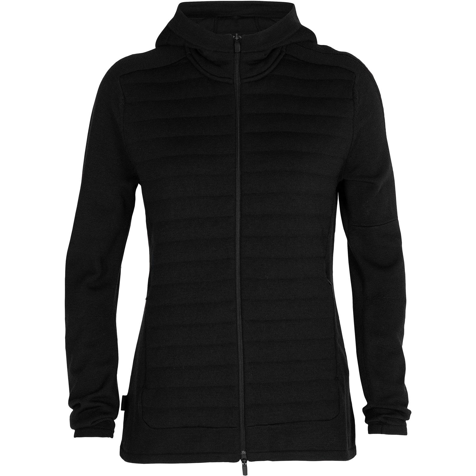 Produktbild von Icebreaker ZoneKnit™ Insulated Zip Hoodie Damen Kapuzenjacke - Black