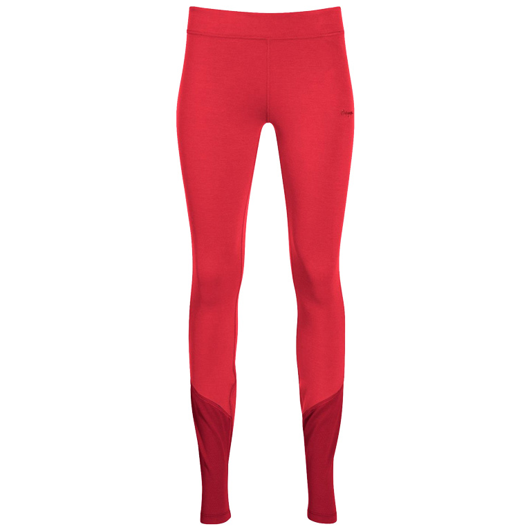 Bergans Cecilie Wool Women's Tights - light dahlia red/dahlia red