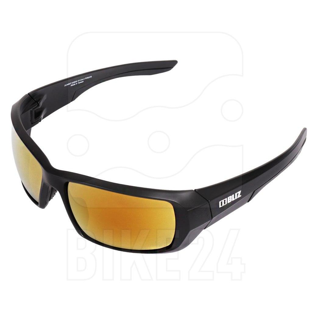 Bliz Summit Matt Black / POL Brown with Gold Mirror Glasses