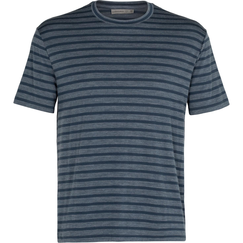 Produktbild von Icebreaker Utility Explore Crewe Stripe Herren T-Shirt - Serene Blue