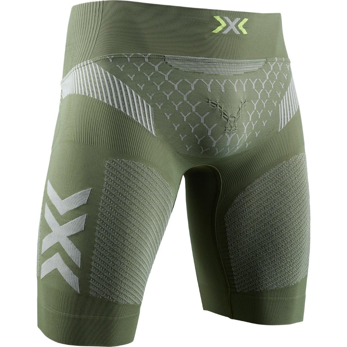 X-Bionic TWYCE 4.0 Run Shorts Laufhose für Herren - olive green/dolomite grey