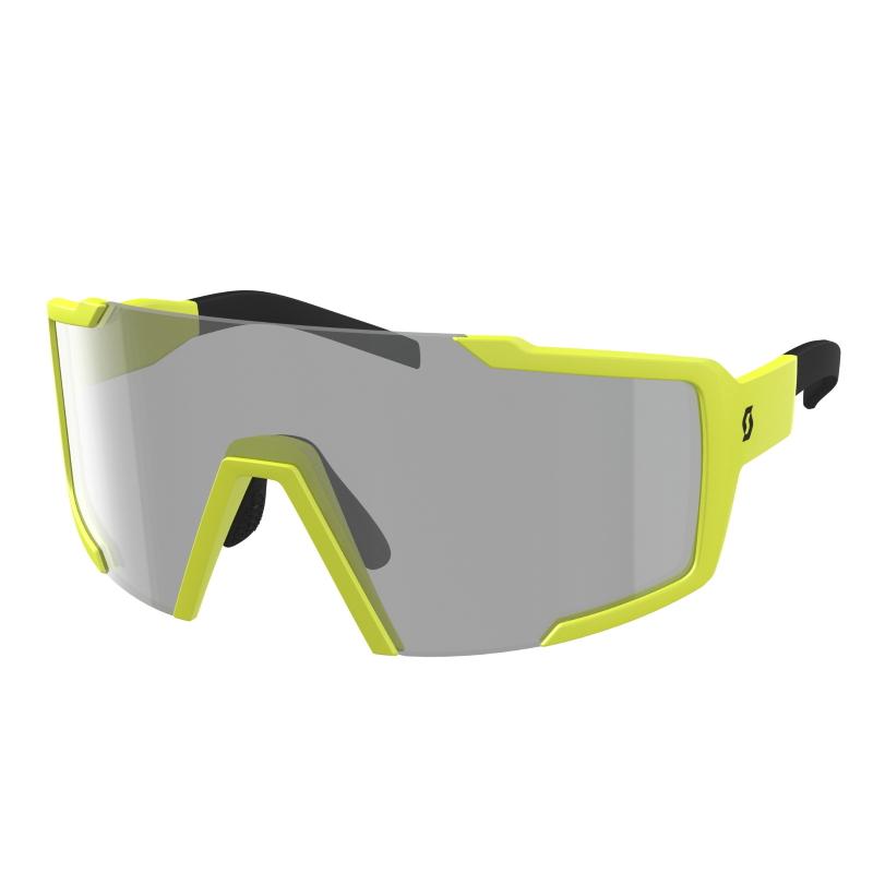 SCOTT Shield Light Sensitive Sunglasses - yellow matt / grey light sensitive