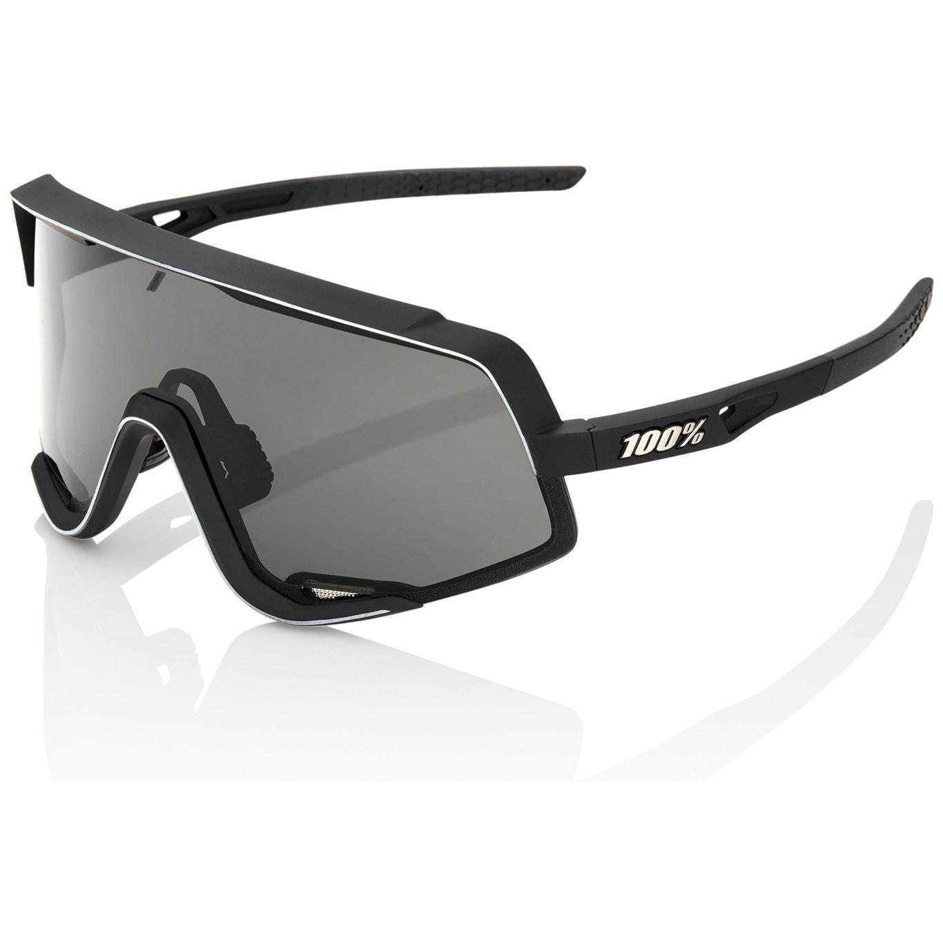 100% Glendale Glasses - Soft Tact Black/Smoke + Clear