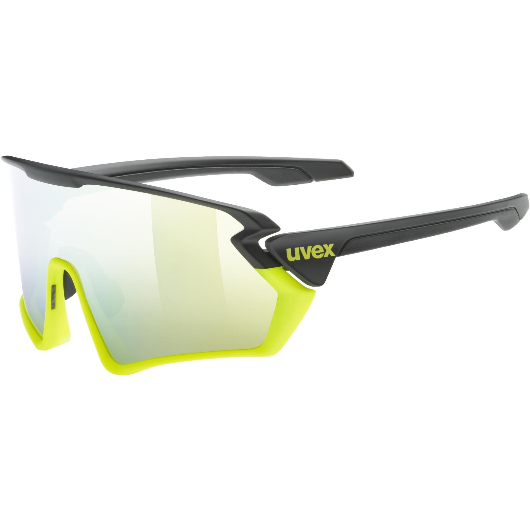 Uvex sportstyle 231 Glasses - black yellow mat/mirror yellow
