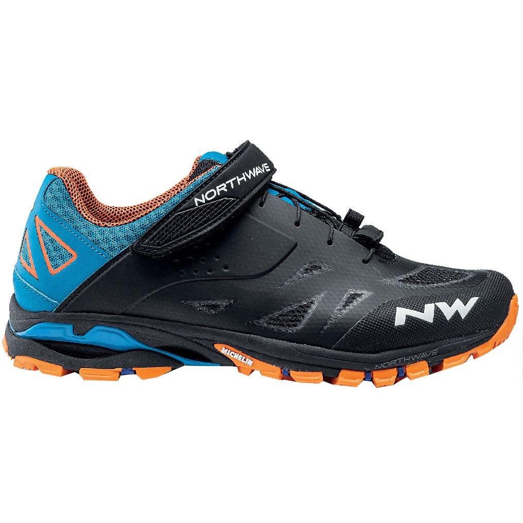 Northwave Spider 2 All Terrain Shoe - black/blue/orange 13