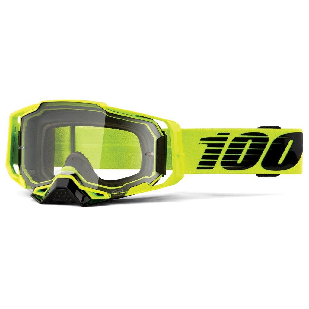 100% Armega Goggle Clear Lens - Nuclear Citrus