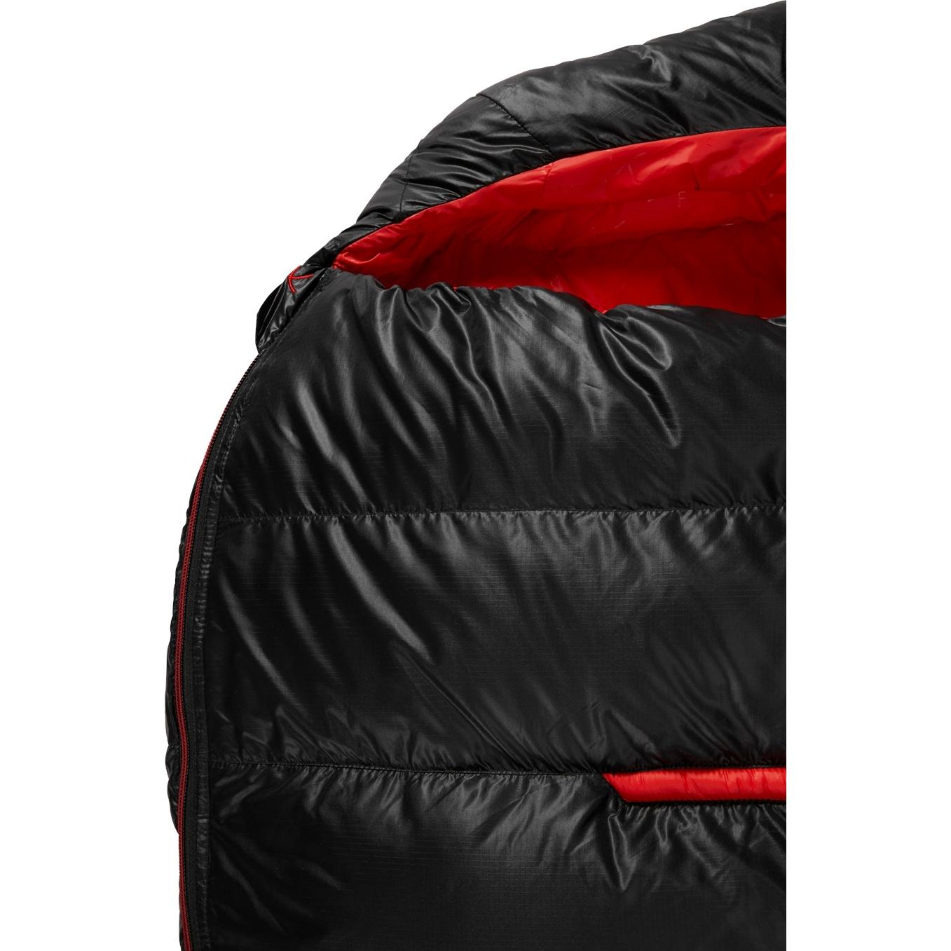 Bild von Y by Nordisk VIB 400 L Schlafsack - black/fiery red