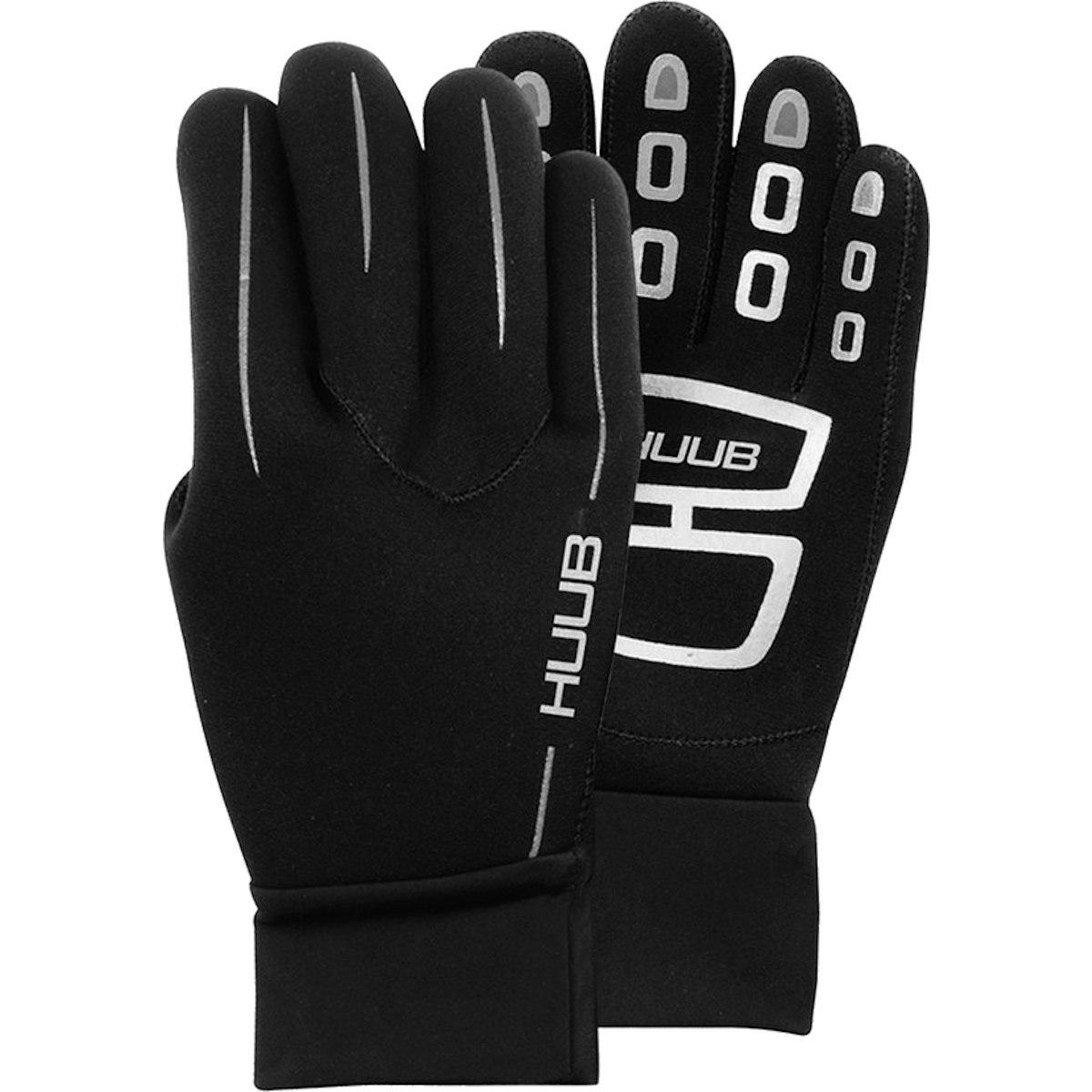 Produktbild von HUUB Design Neopren Schwimmhandschuhe - schwarz/silber