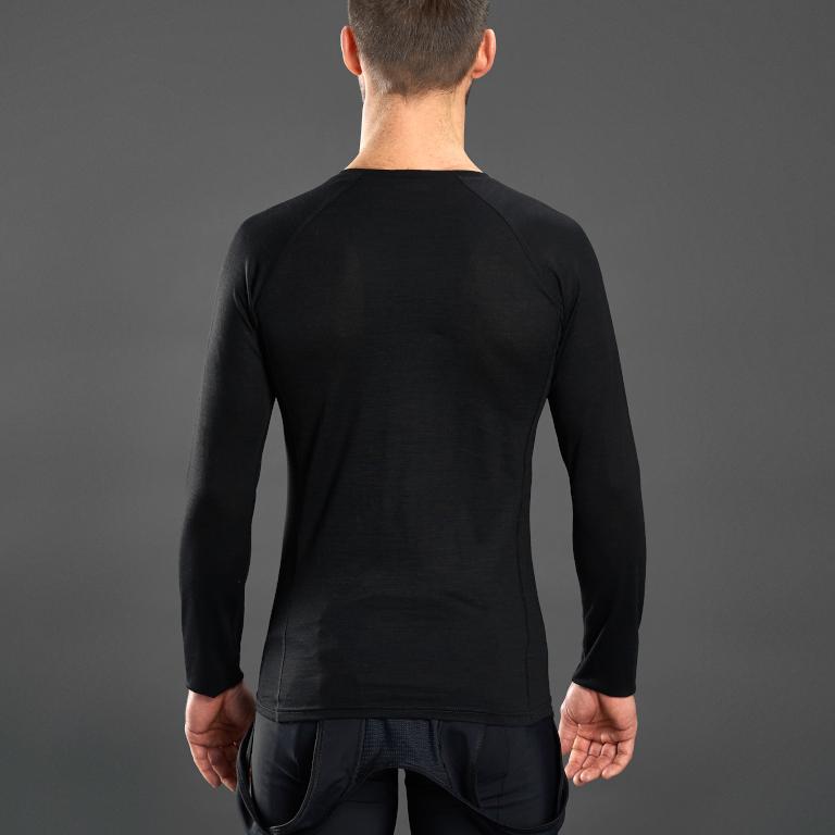 Image of GripGrab Merino Polyfibre Long Sleeve Base Layer - Black