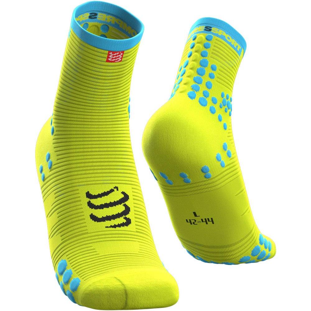 Foto de Compressport Pro Racing Compression Socks v3.0 Run High Cut - fluo yellow