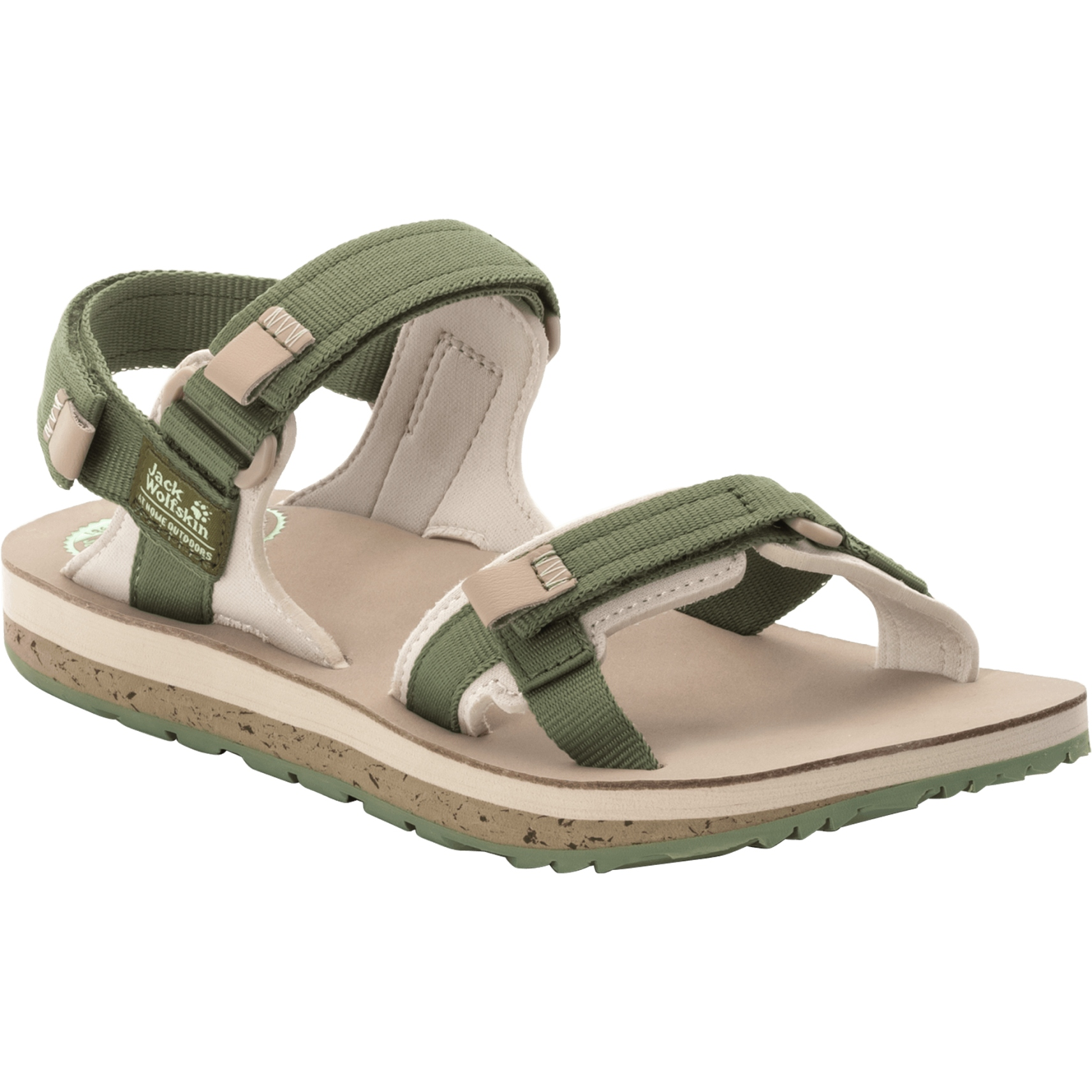 Jack Wolfskin Outfresh Deluxe Damen Sandale - khaki/sand