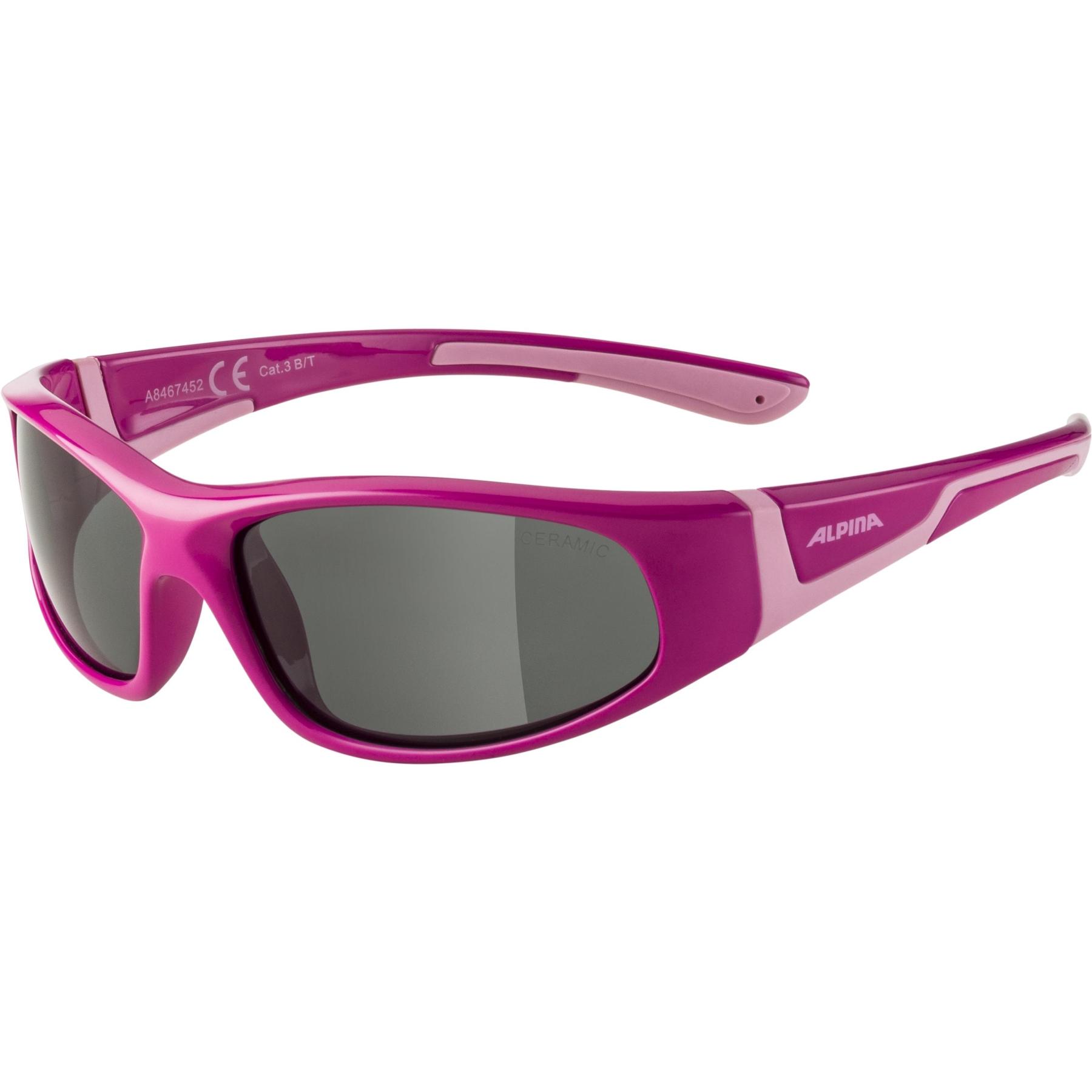 Alpina Flexxy Junior Glasses - Pink-Rose/Black