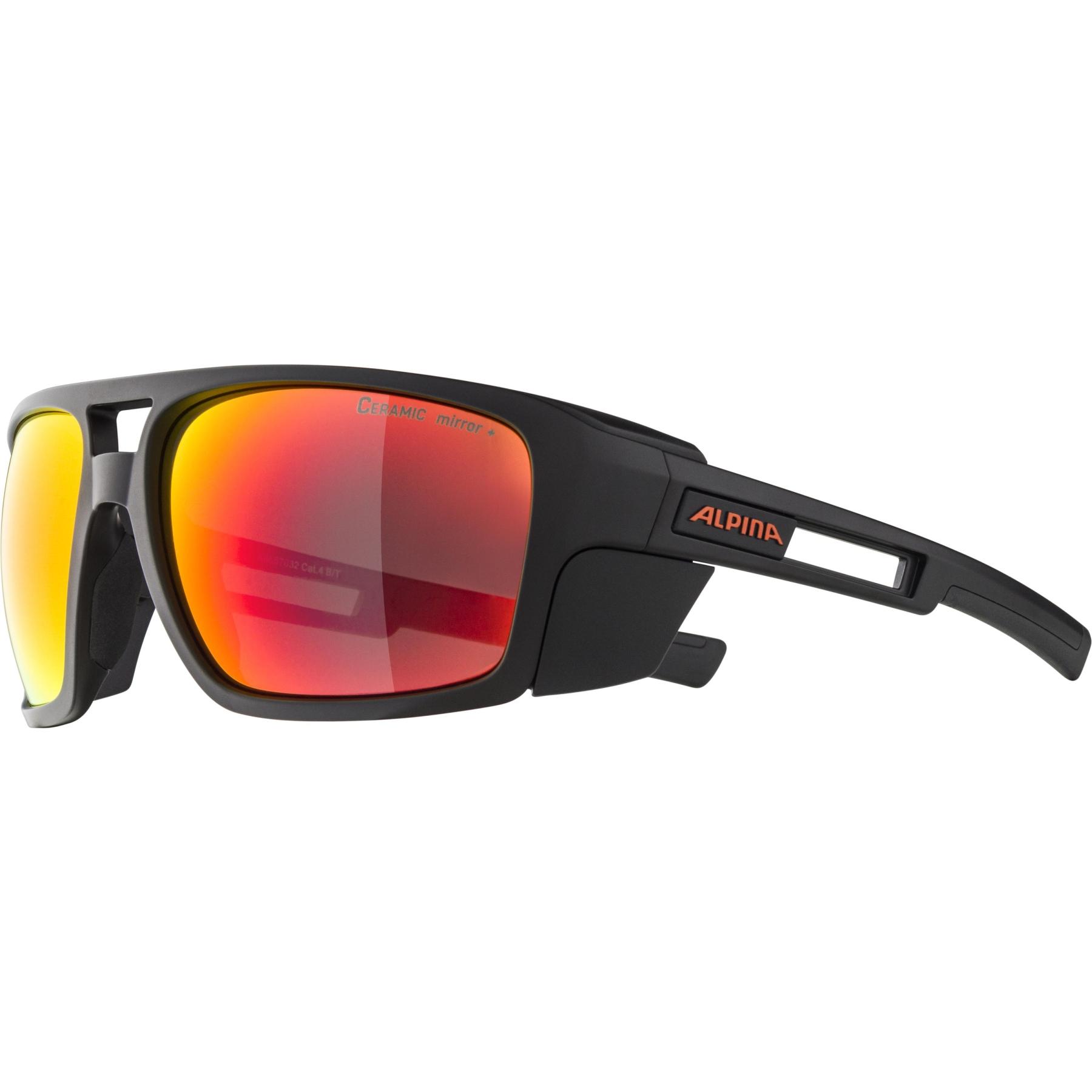 Image of Alpina Skywalsch CM+ Glasses - black matt / red mirror