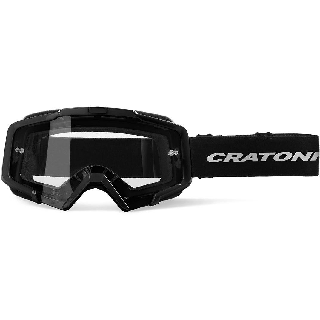 CRATONI C-Dirttrack Goggle - black matt / clear