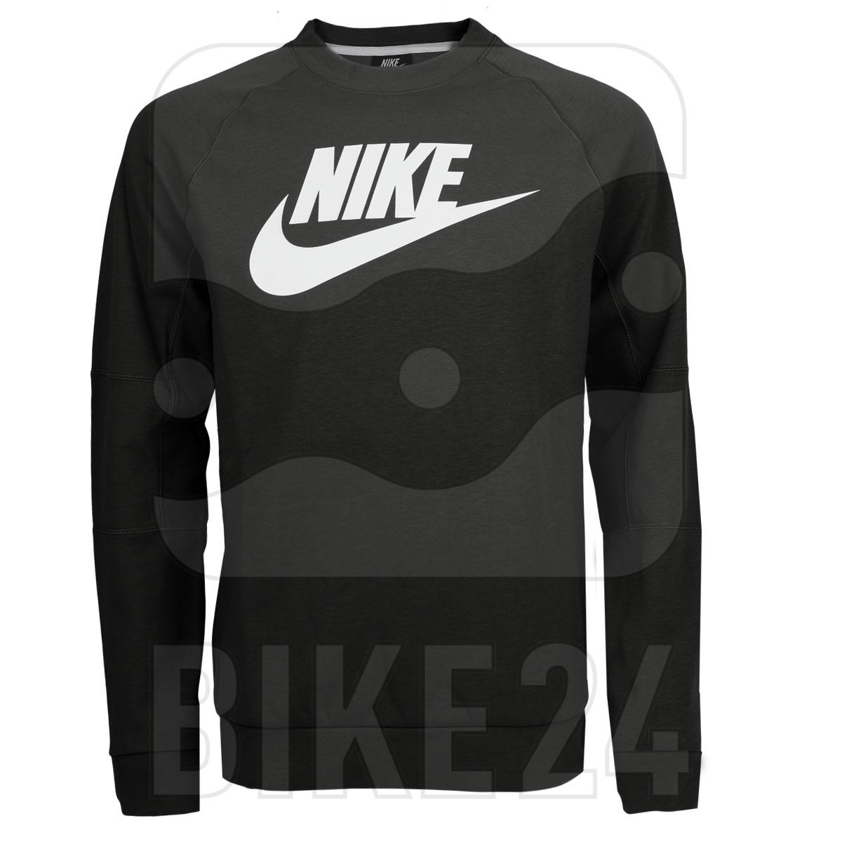 Produktbild von Nike Sportswear Fleece Crew Langarmshirt für Herren - black/white CU4473-010