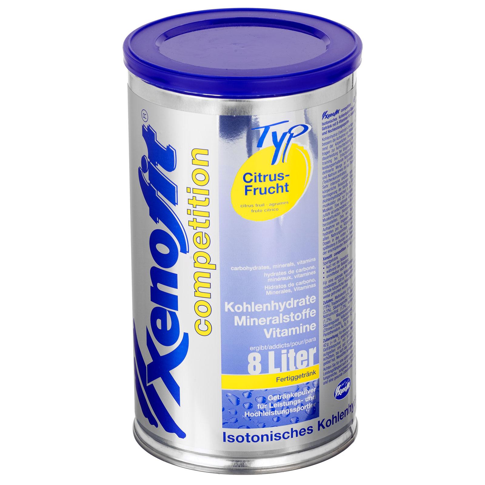 Bild von Xenofit Competition Citrus-Frucht - Isotonisches Kohlenhydrat-Getränk - 672g