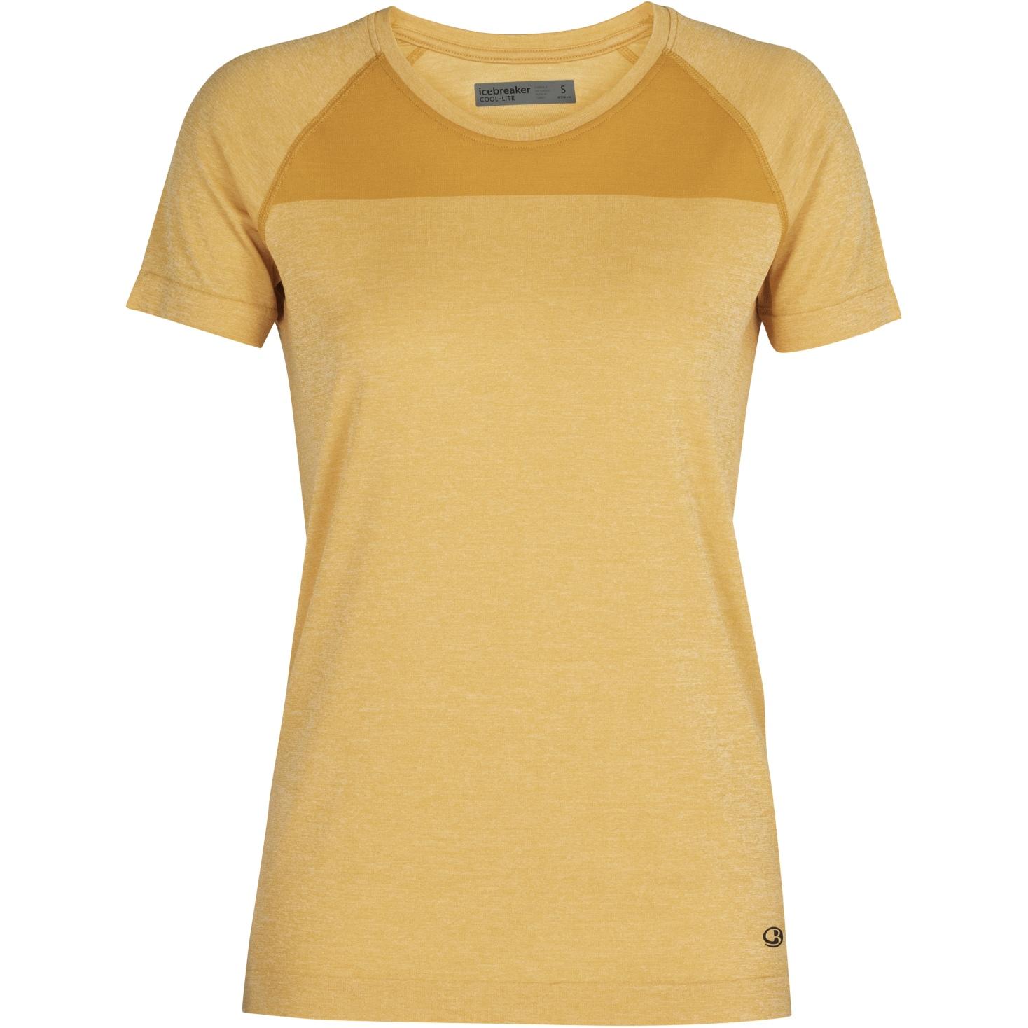 Produktbild von Icebreaker Motion Seamless Crewe Damen T-Shirt - Safflower HTHR