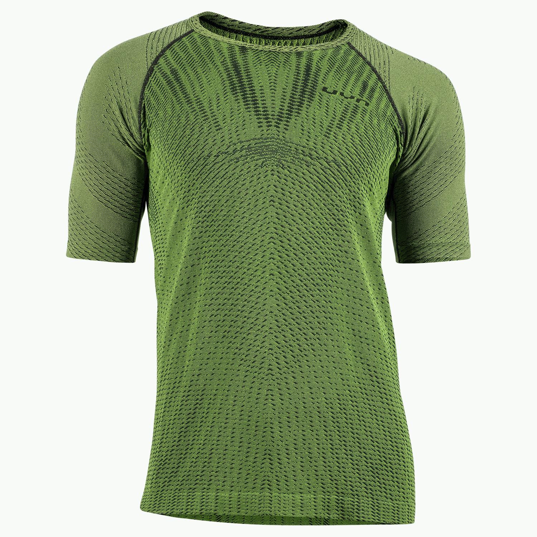UYN Activyon 2.0 Running Herren Kurzärmeliges Shirt - Green Parrot/Parrot Light