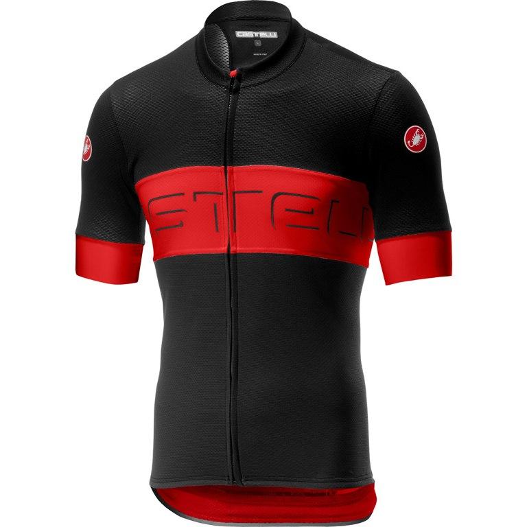 Castelli Prologo VI Jersey FZ - black/red/black 231