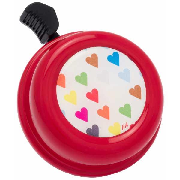 Bild von Liix Colour Bell Fahrradklingel - Polka Hearts Red