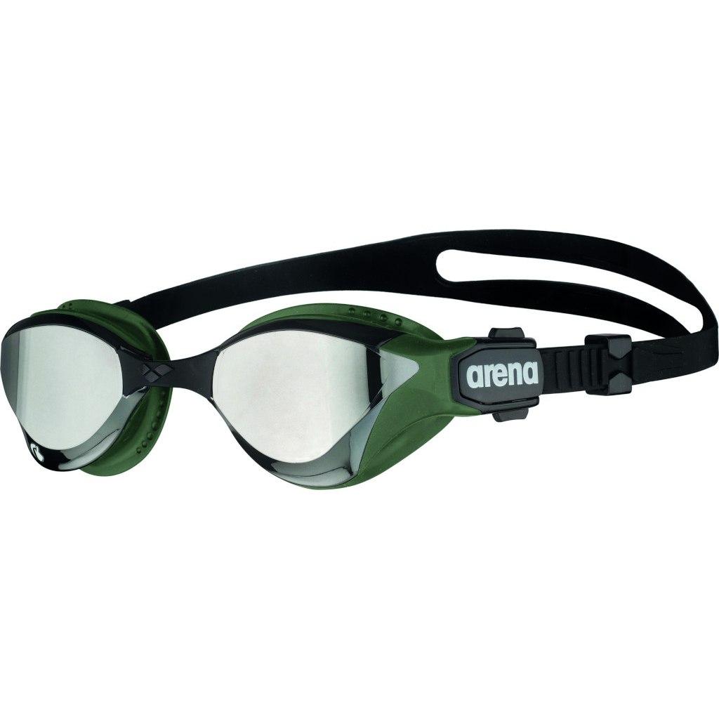 arena Cobra Tri Swipe Mirror Silver/Army Swimming Goggle