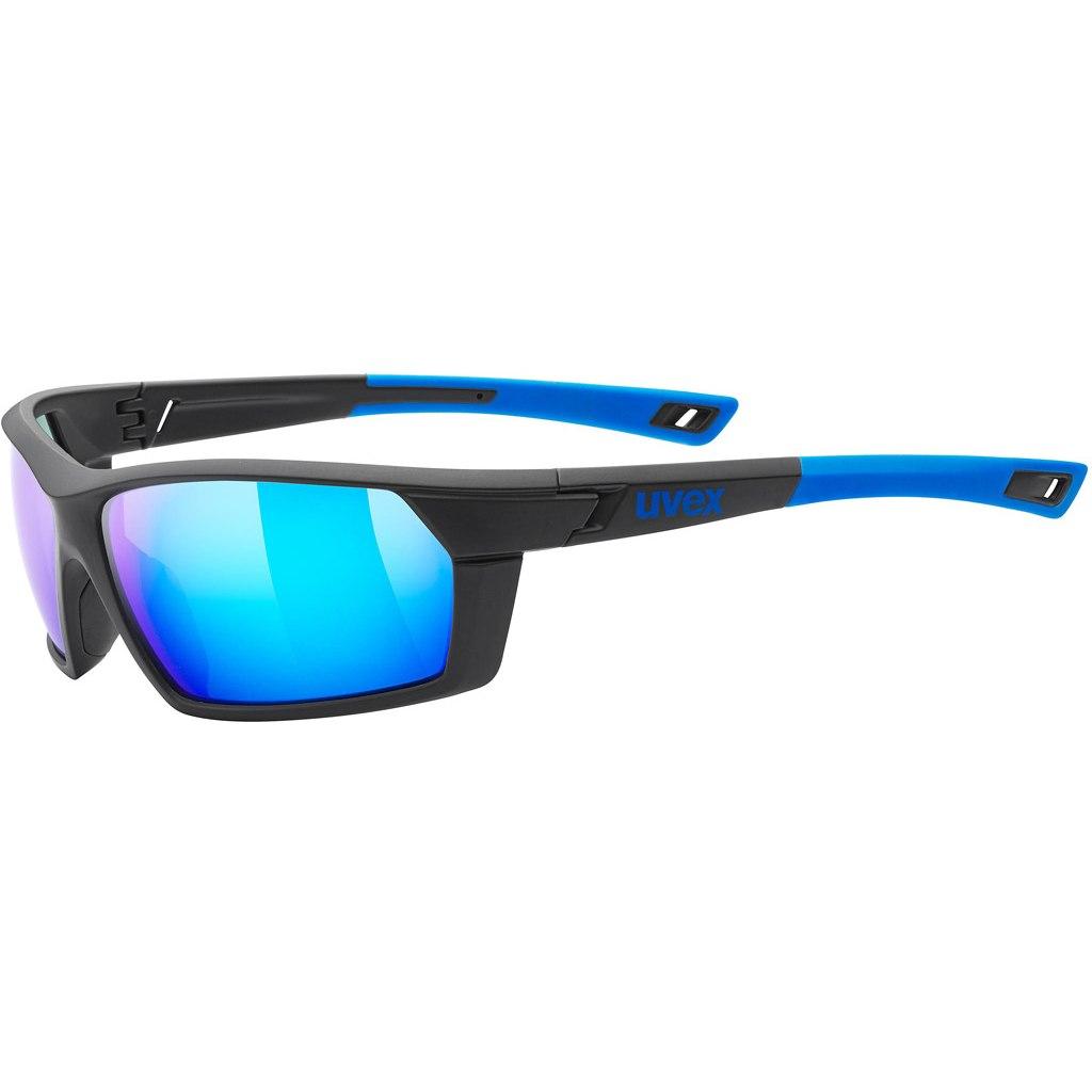 Uvex sportstyle 225 Brille - black blue/mirror blue