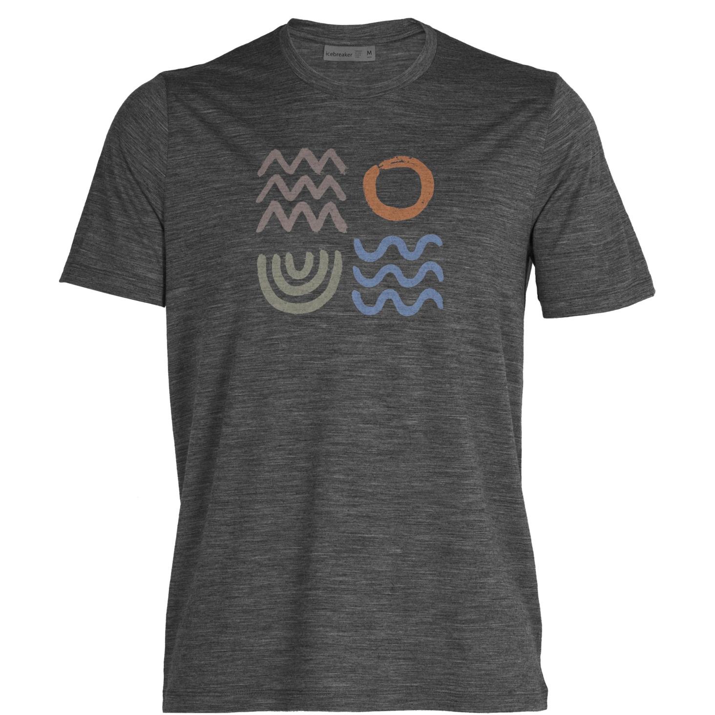 Produktbild von Icebreaker Tech Lite II Nature Components Herren T-Shirt - Gritstone Hthr