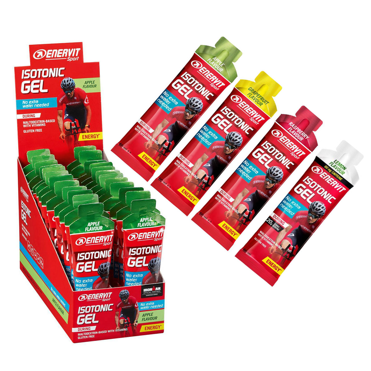 Enervit Isotonic Gel with Carbohydrates + Vitamins - 24x60ml