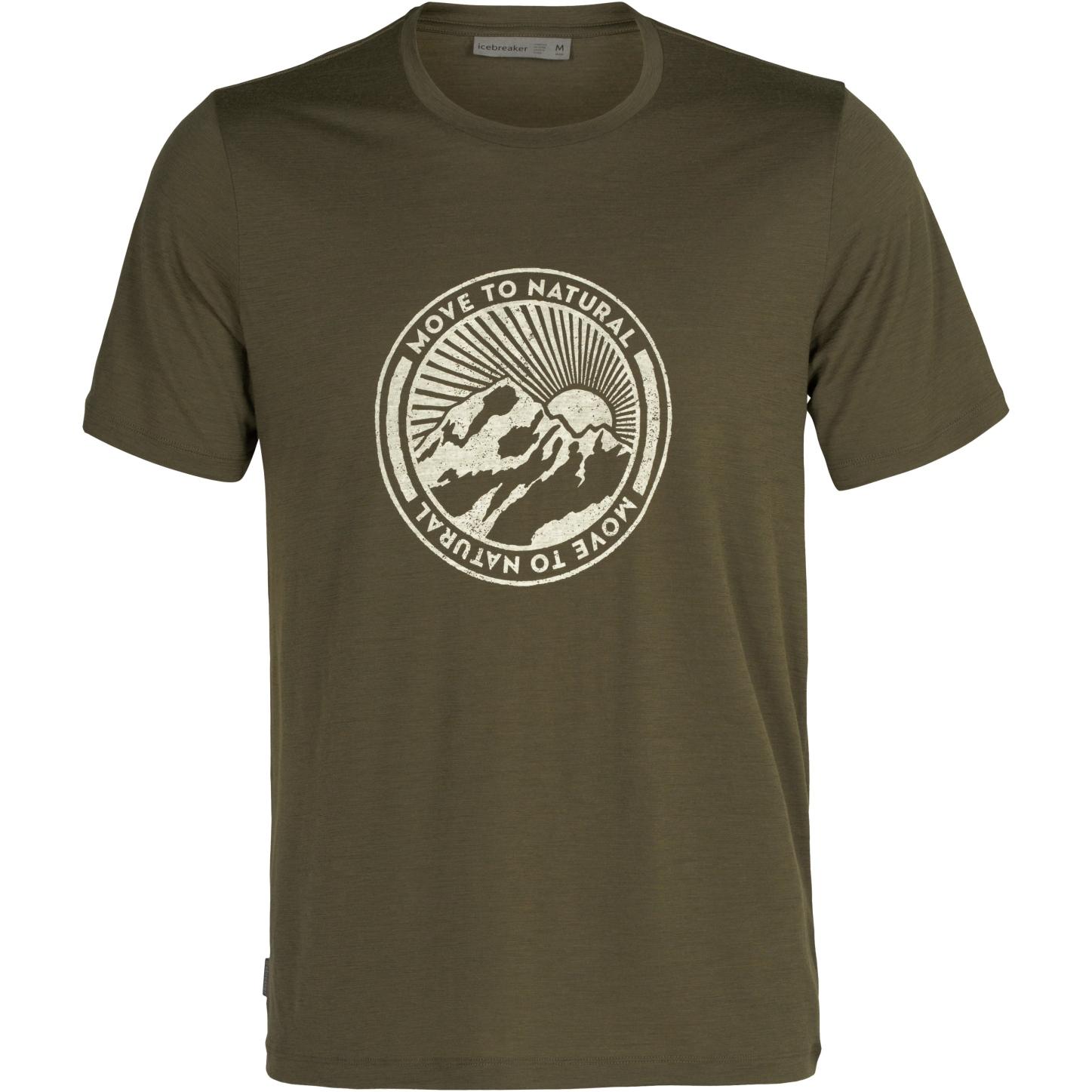 Produktbild von Icebreaker Tech Lite II Move to Natural Mountain Herren T-Shirt - Loden