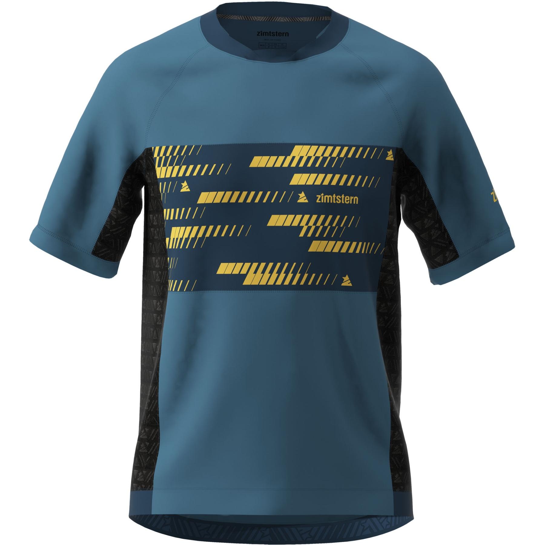 Zimtstern TechZonez Kurzarm-Shirt - blue steel/french navy