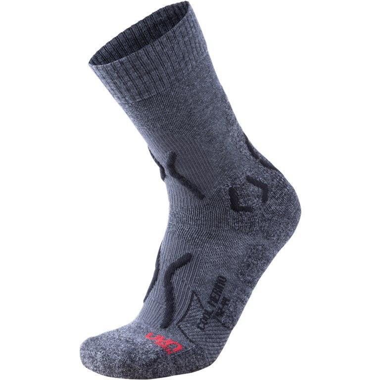UYN Trekking Cool Merino Socken - Medium Grey Melange/Black