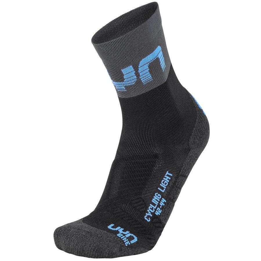 UYN Cycling Light Man Socks - Black/Grey/Indigo Bunting