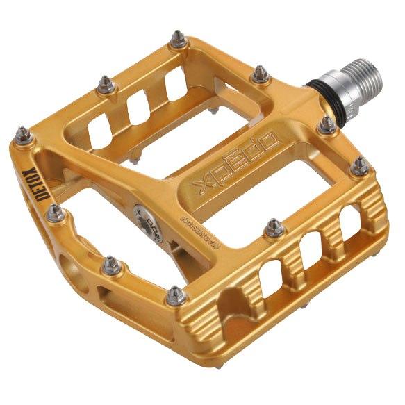 Xpedo Detox Flat Pedal - gold