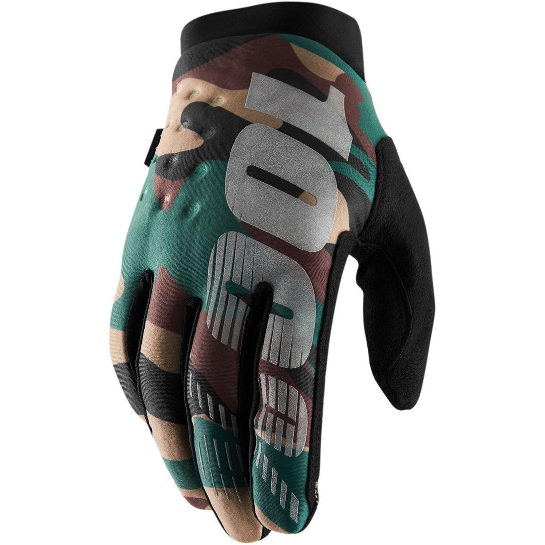 100% Brisker Cold Weather Glove - Camo/Black