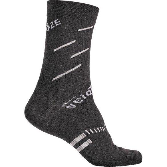 veloToze Merino Wolle Socken - Schwarz/Grau