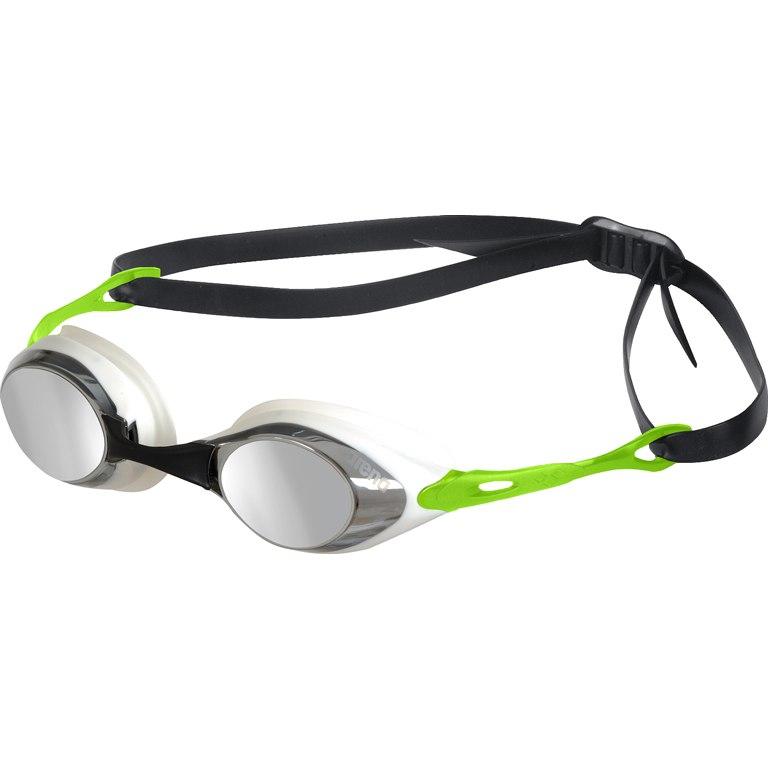 arena Cobra Mirror Smoke/Silver/Green Swimming Goggle