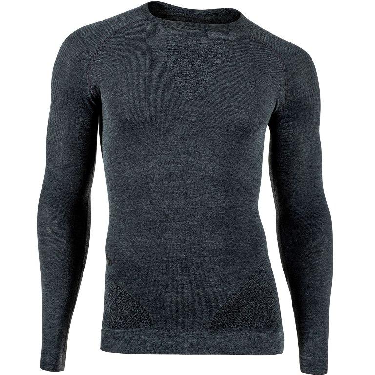 UYN Fusyon Man Cashmere UW Long Sleeve Shirt - grey rock/black