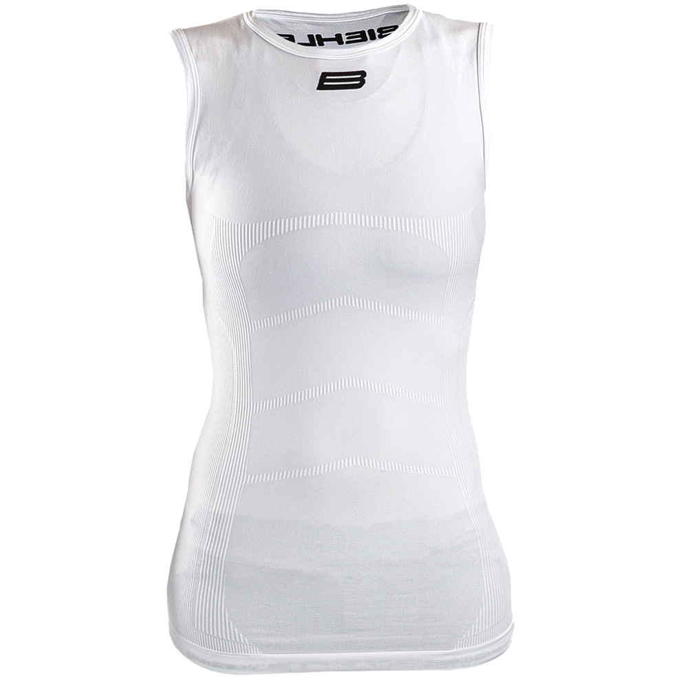 Biehler Seamless Pro Sleeveless Baselayer Undershirt Women - white