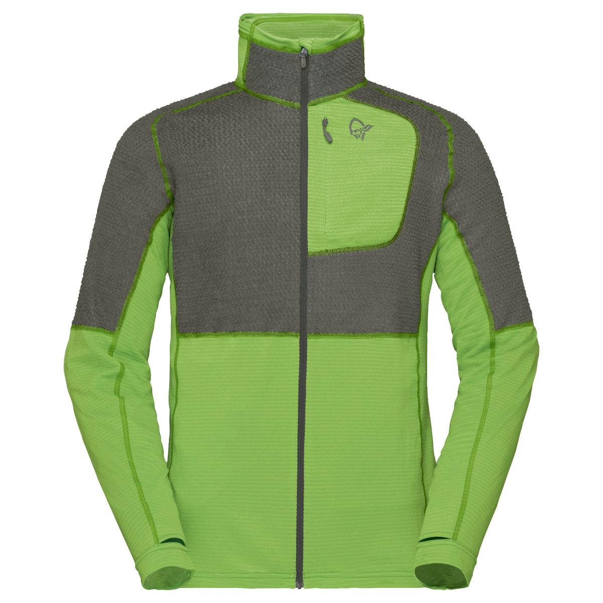 Norrona lyngen Alpha90 Raw Jacket Men - Castor Grey/Foliage
