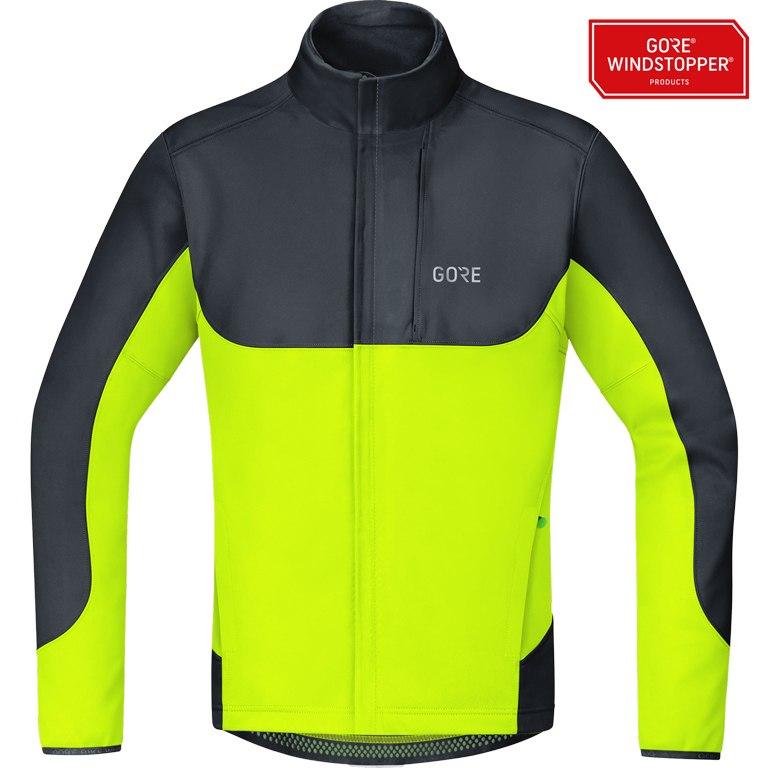 Produktbild von GORE Wear C5 GORE® WINDSTOPPER® Thermo Trail Jacke - black/neon yellow 9908