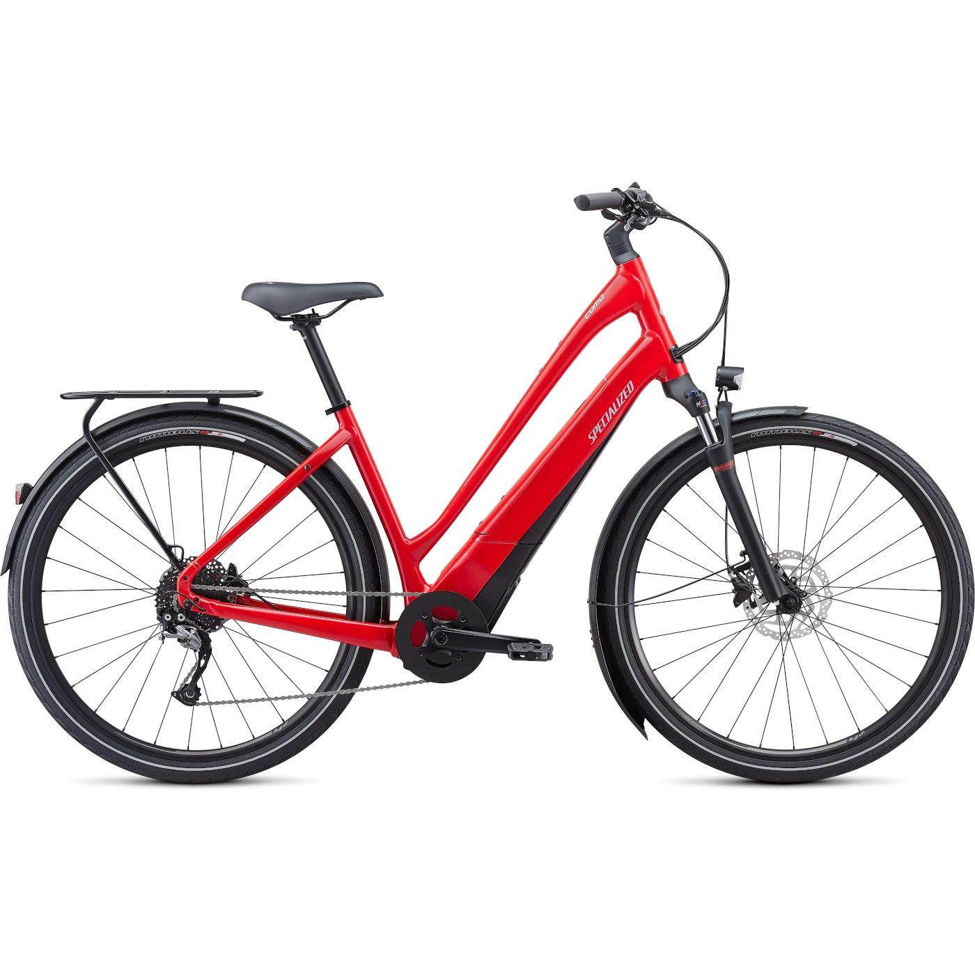 Produktbild von Specialized TURBO COMO 3.0 Low Entry E-Bike - 2021 - flo red / blue ghost pearl / black / chrome