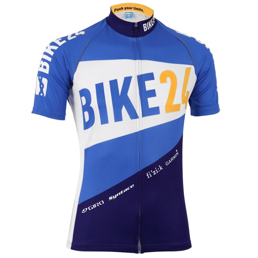 BIKE24 Team Jersey - Race-Cut - Traffic-Blue