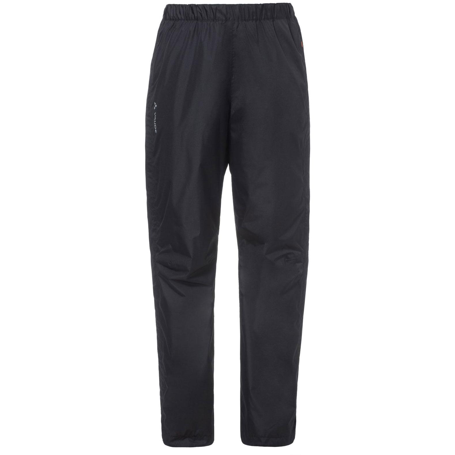 Vaude Fluid Full-Zip Damen Regenhose - Short - schwarz
