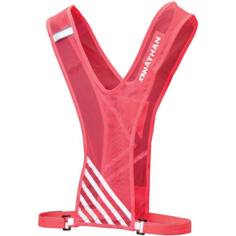 Nathan Sports Bandolier Reflective Vest - diva pink