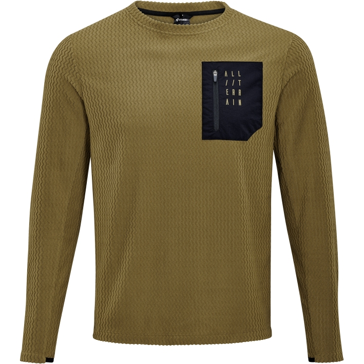 Picture of CUBE ATX Fleece Long Sleeve Jersey - brown