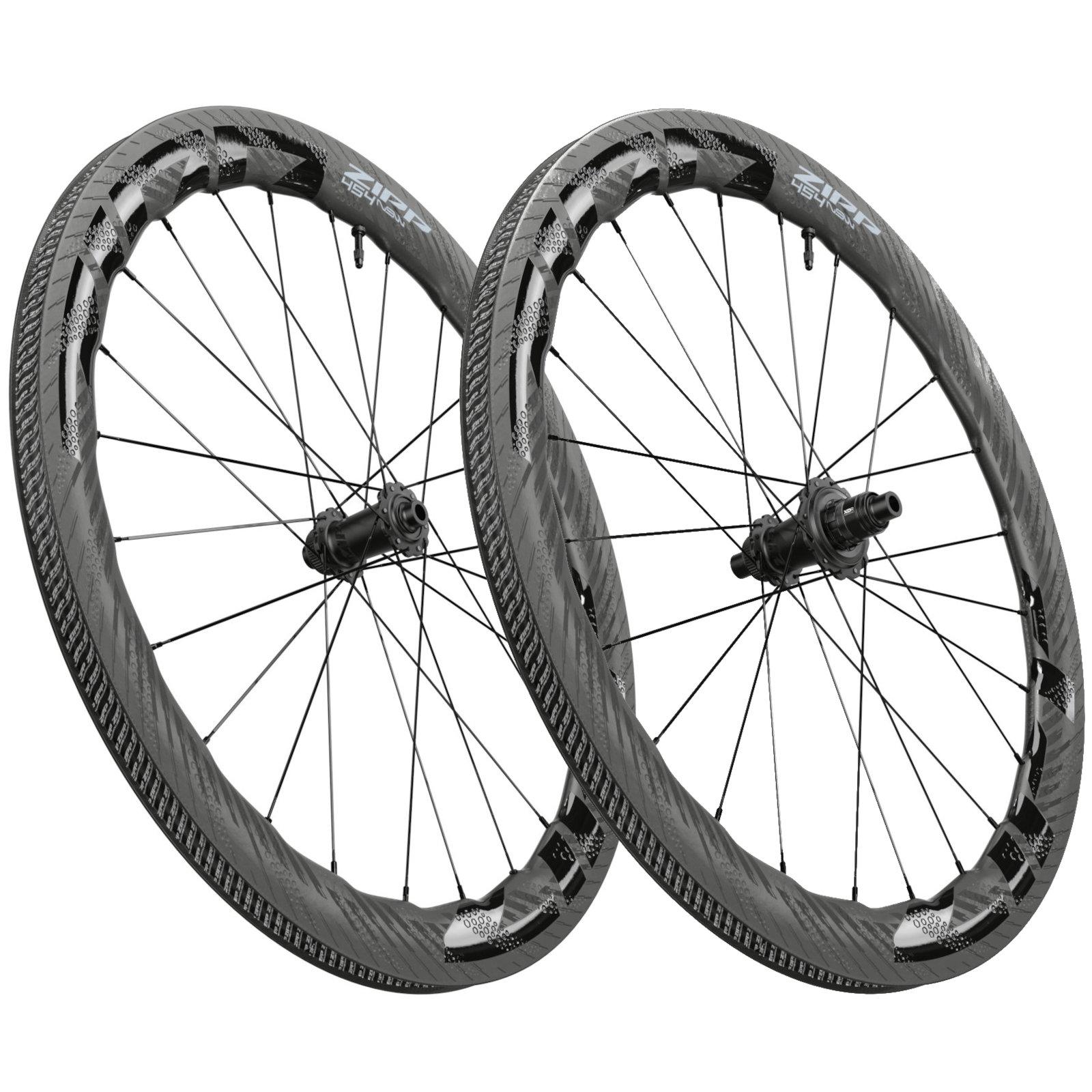 ZIPP 454 NSW Carbon Laufradsatz - Tubeless - Centerlock - VR: 12x100mm   HR: 12x142mm - schwarz