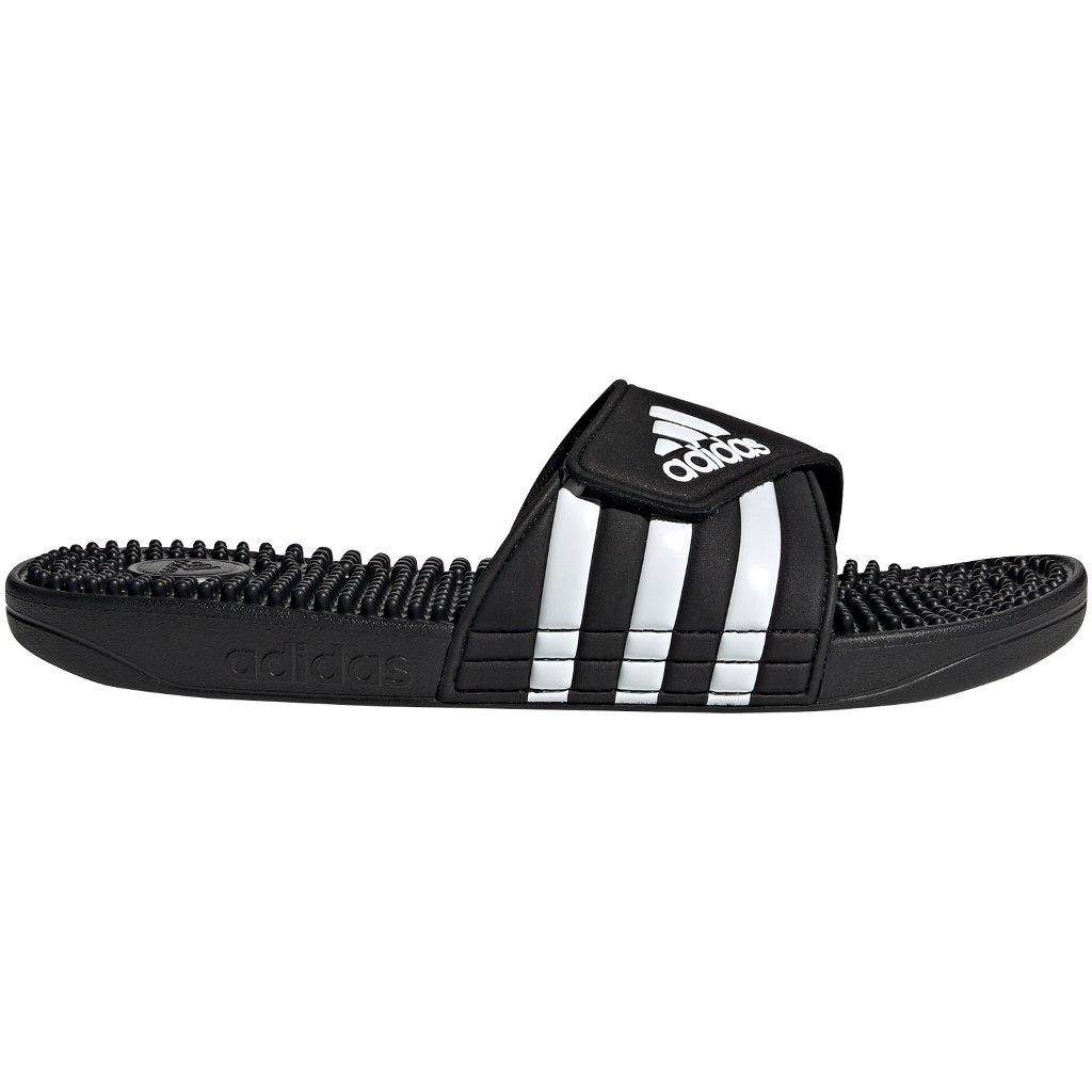 adidas Adissage Slipper Chanclas - core black/ftwr white/core black F35580